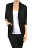3/4 Sleeve Open Front Shrug Cardigan - BodiLove | 30% Off First Order - 13