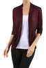 3/4 Sleeve Open Front Shrug Cardigan - BodiLove | 30% Off First Order - 16