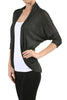 3/4 Sleeve Open Front Shrug Cardigan - BodiLove | 30% Off First Order - 22