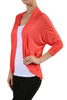 3/4 Sleeve Open Front Shrug Cardigan - BodiLove | 30% Off First Order - 20