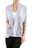 3/4 Sleeve Open Front Shrug Cardigan - BodiLove | 30% Off First Order - 24
