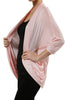 3/4 Sleeve Open Front Shrug Cardigan - BodiLove | 30% Off First Order - 18