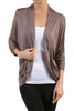 3/4 Sleeve Open Front Shrug Cardigan - BodiLove | 30% Off First Order - 27