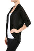 3/4 Sleeve Open Front Shrug Cardigan - BodiLove | 30% Off First Order - 14