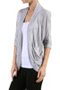 3/4 Sleeve Open Front Shrug Cardigan - BodiLove | 30% Off First Order - 25