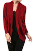 Long Sleeve Open Front Shrug Cardigan - BodiLove | 30% Off First Order - 12