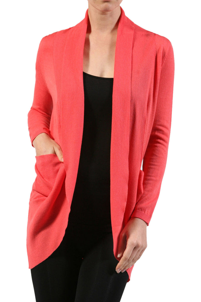 Long Sleeve Open Front Shrug Cardigan - BodiLove | 30% Off First Order - 3