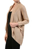 Long Sleeve Open Front Shrug Cardigan - BodiLove | 30% Off First Order - 15