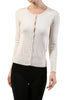 Long Sleeve Scoop Neck Button Up Cardigan - BodiLove | 30% Off First Order  - 10