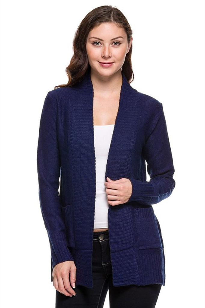 Long Sleeve Open Front Knit Cardigan - BodiLove | 30% Off First Order - 5