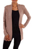 Long Sleeve Open Front Knit Cardigan - BodiLove | 30% Off First Order - 15