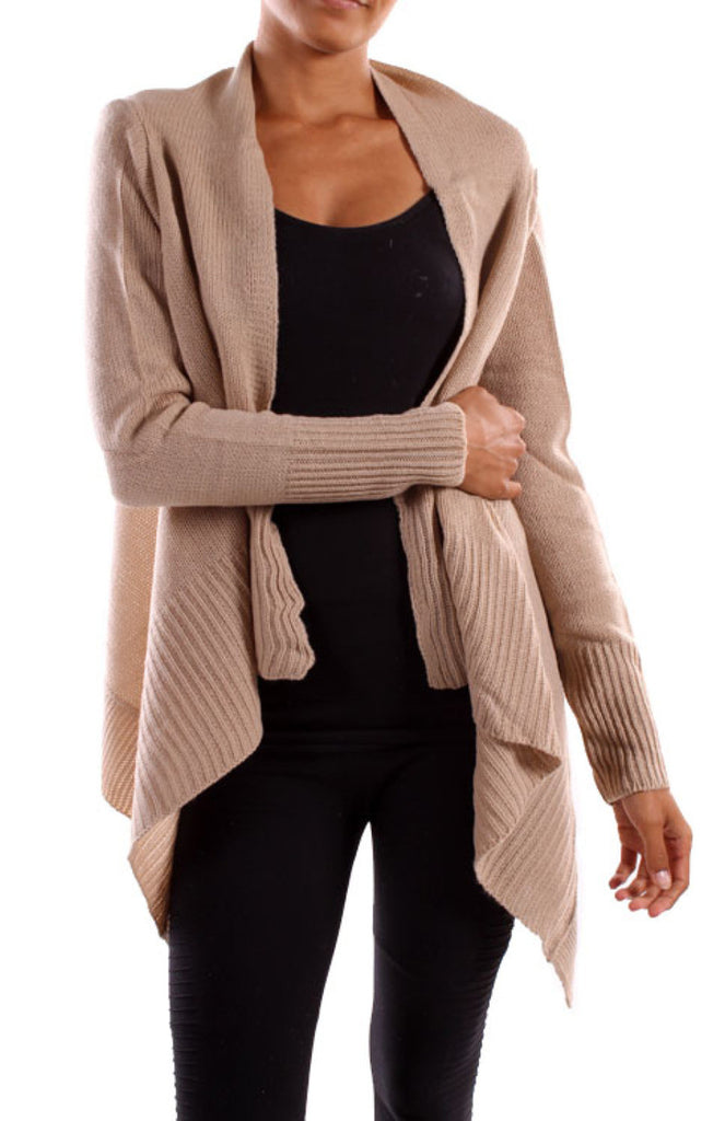 Long Sleeve Open Front Knit Sweater - BodiLove | 30% Off First Order  - 10