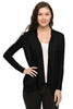 Long Sleeve Open Front Cardigan W/ Chiffon Back - BodiLove | 30% Off First Order  - 1