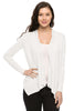 Long Sleeve Open Front Cardigan W/ Chiffon Back - BodiLove | 30% Off First Order  - 8