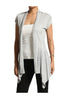 Draped Cap Sleeve Open Front Cardigan - BodiLove | 30% Off First Order  - 15