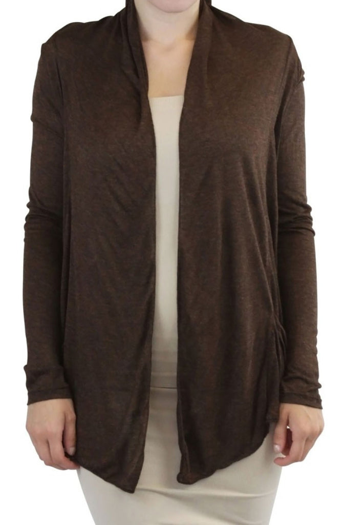 Draped Open Front Long Sleeve Cardigan - BodiLove | 30% Off First Order  - 10