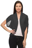 Short Sleeve Open Front Shawl Cardigan - BodiLove | 30% Off First Order  - 4