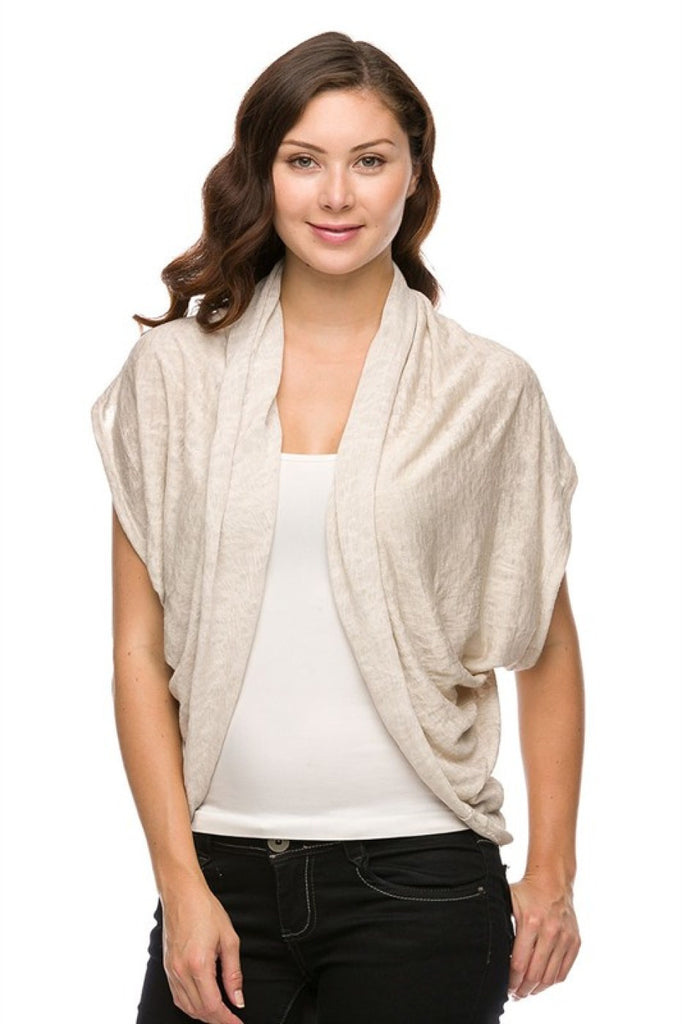 Short Sleeve Open Front Shawl Cardigan - BodiLove | 30% Off First Order  - 7