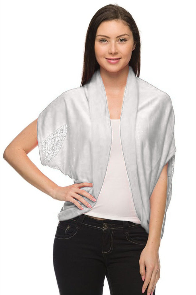 Short Sleeve Open Front Shawl Cardigan - BodiLove | 30% Off First Order  - 13