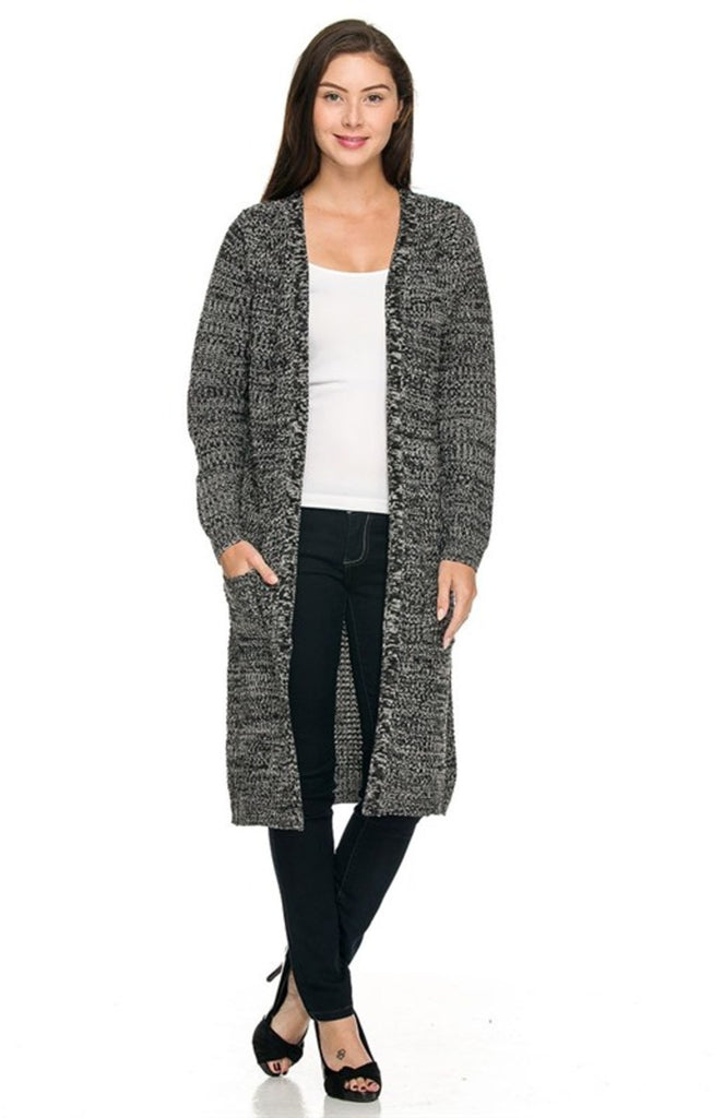 Long Sleeve Open Front Knit Maxi Cardigan - BodiLove | 30% Off First Order  - 3