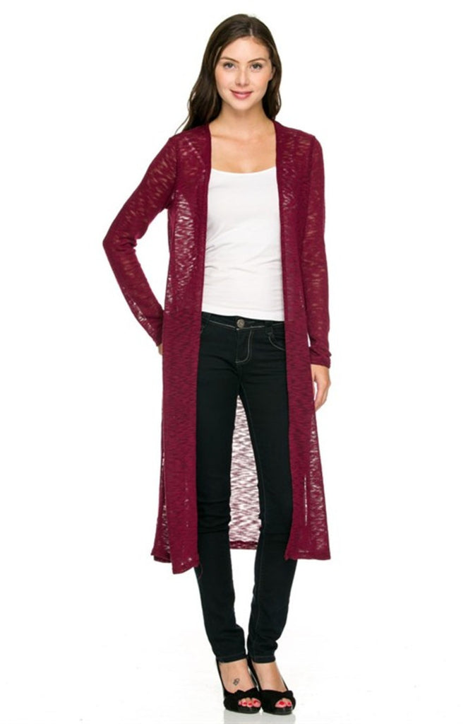 Long Sleeve Open Front Knit Maxi Cardigan - BodiLove | 30% Off First Order  - 4