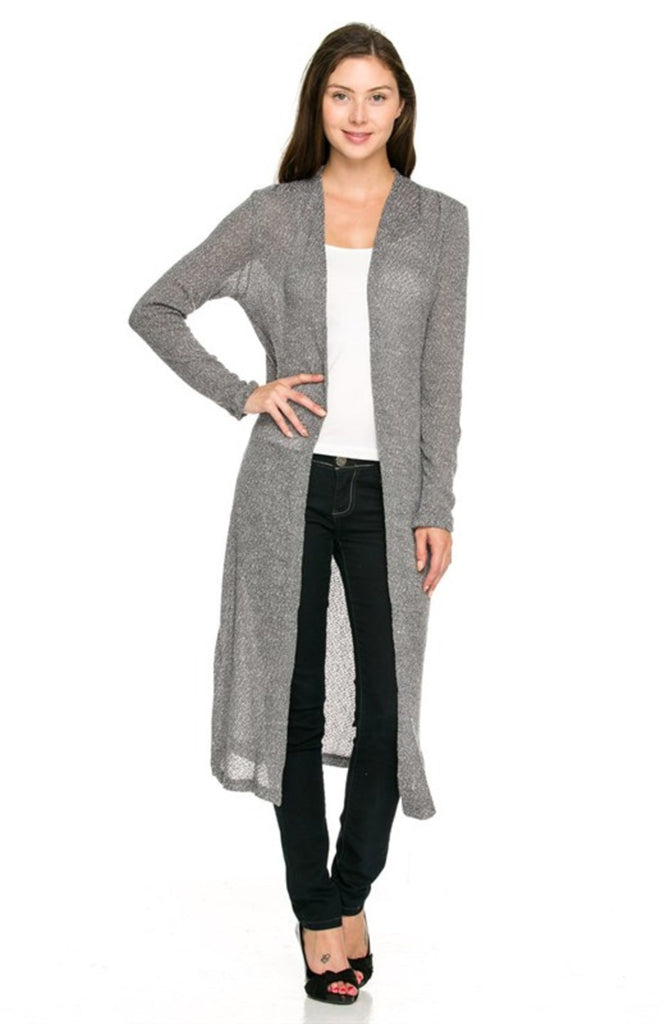 Long Sleeve Open Front Knit Maxi Cardigan - BodiLove | 30% Off First Order - 5