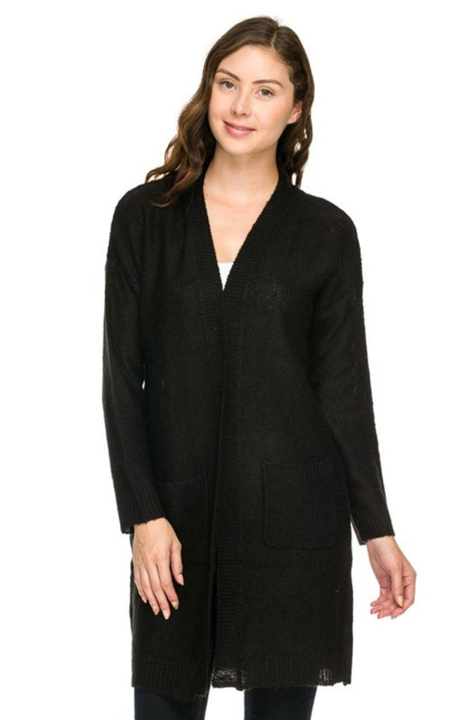 Long Sleeve Open Front Knit Cardigan - BodiLove | 30% Off First Order  - 1