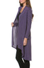 Violet Long Sleeve Open Front Hi-Low Cardigan - BodiLove | 30% Off First Order - 4