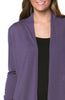 Violet Long Sleeve Open Front Hi-Low Cardigan - BodiLove | 30% Off First Order - 5