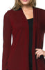 Violet Long Sleeve Open Front Hi-Low Cardigan - BodiLove | 30% Off First Order - 8