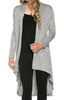 Violet Long Sleeve Open Front Hi-Low Cardigan - BodiLove | 30% Off First Order - 51