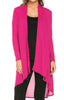 Violet Long Sleeve Open Front Hi-Low Cardigan - BodiLove | 30% Off First Order - 64