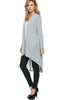 Violet Long Sleeve Open Front Hi-Low Cardigan - BodiLove | 30% Off First Order - 69