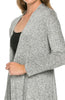 Violet Long Sleeve Open Front Hi-Low Cardigan - BodiLove | 30% Off First Order - 54