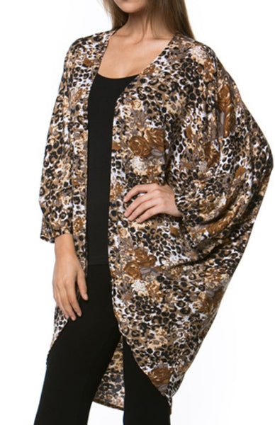 Draped Open Front Cocoon Kimono Cardigan - BodiLove | 30% Off First Order  - 1