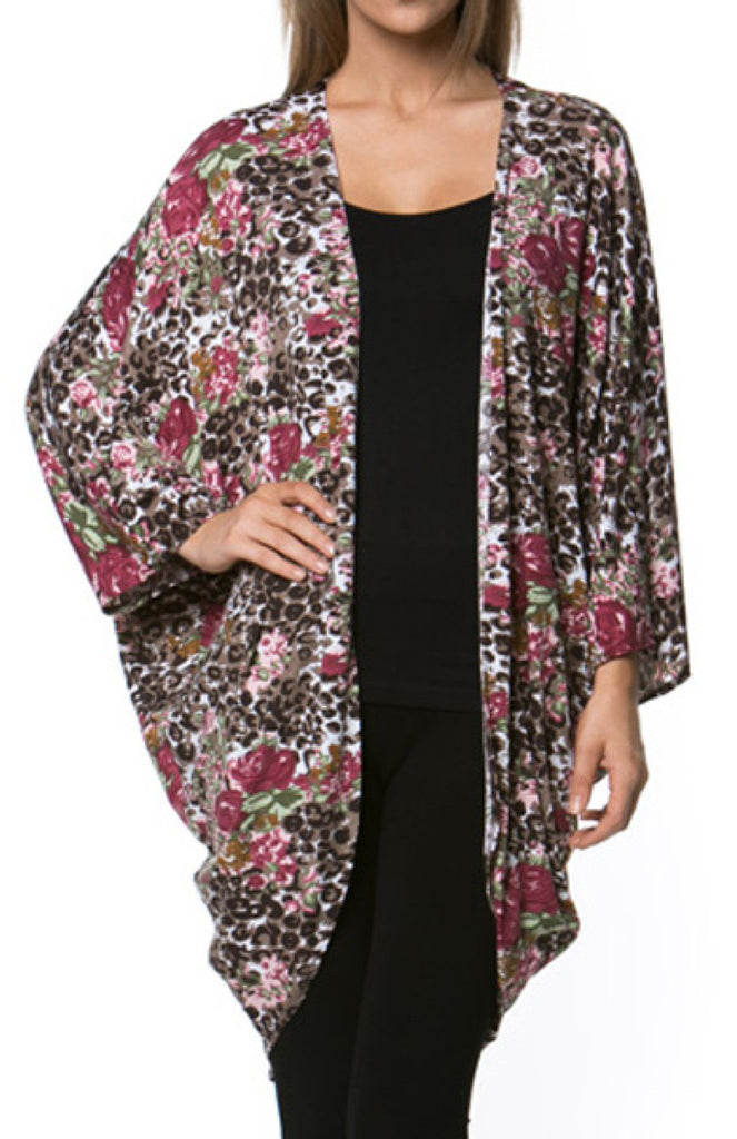Draped Open Front Cocoon Kimono Cardigan - BodiLove | 30% Off First Order  - 2