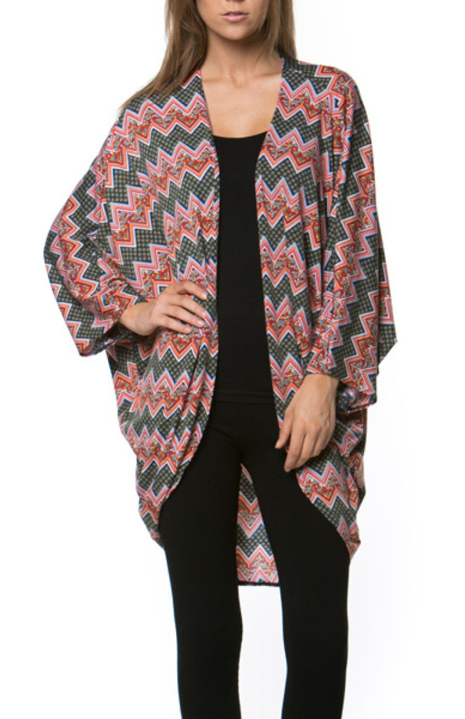 Draped Open Front Cocoon Kimono Cardigan - BodiLove | 30% Off First Order  - 13