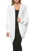 Draped Open Front Hi-Low Cocoon Kimono Cardigan - BodiLove | 30% Off First Order - 9