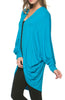Draped Open Front Hi-Low Cocoon Kimono Cardigan - BodiLove | 30% Off First Order - 13
