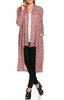 Long Sleeve Open Front Knit Maxi Cardigan | 30% Off First Order | Heather Wine