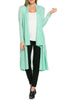 Long Sleeve Open Front Knit Maxi Cardigan | 30% Off First Order | Mint