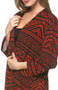 Boxy 3/4 Sleeve Open Front Kimono Cardigan - BodiLove | 30% Off First Order - 20 | Black & Red