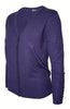 Long Sleeve V-Neck Button Up Cardigan - BodiLove | 30% Off First Order - 65 | Purple