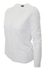 Long Sleeve V-Neck Button Up Cardigan - BodiLove | 30% Off First Order - 25 | White