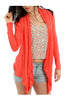 Faux Leather Yoke Long Sleeve Cardigan - BodiLove | 30% Off First Order  - 7