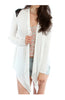 Faux Leather Yoke Long Sleeve Cardigan - BodiLove | 30% Off First Order  - 10