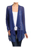 Long Sleeve Open Front Cardigan W/ Lace Trim | 30% Off First Order | Royal Blue
