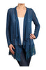 Long Sleeve Open Front Cardigan W/ Lace Trim | 30% Off First Order | Teal
