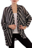 Long Sleeve Open Front Striped Knit Cardigan - BodiLove | 30% Off First Order  - 1