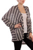 Long Sleeve Open Front Striped Knit Cardigan - BodiLove | 30% Off First Order  - 6